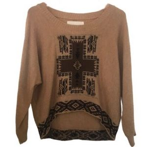 OBEY PROPAGANDA Cropped High Low Alpaca Sweater